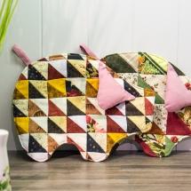 Schweinetopflappen aus Stoff-Abo Quadraten