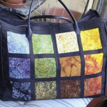 Handtasche aus Stoff-Abo Quadraten